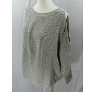LOFT Gray Sweater Off Sleeves